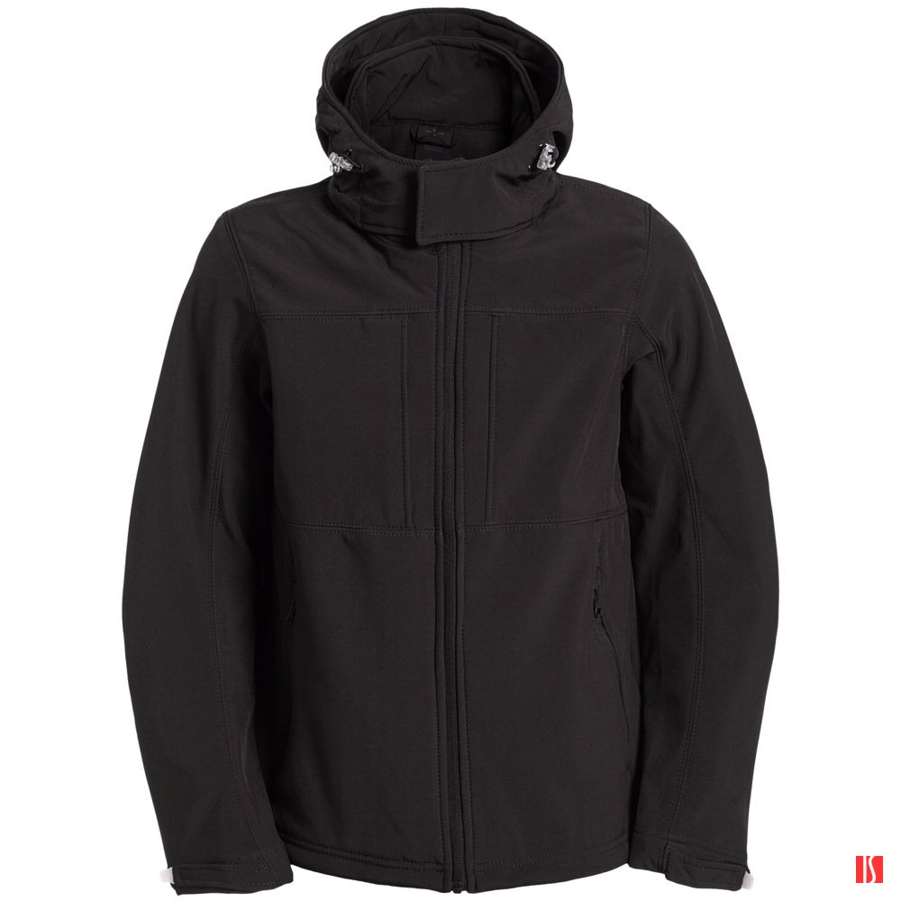 Куртка мужская Hooded Softshell черная
