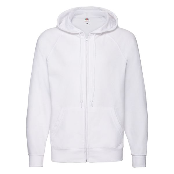 "Толстовка без начеса ""Lightweight Hooded Sweat"",  белый, S, 80% х/б 20% полиэстер, 240 г/м2"