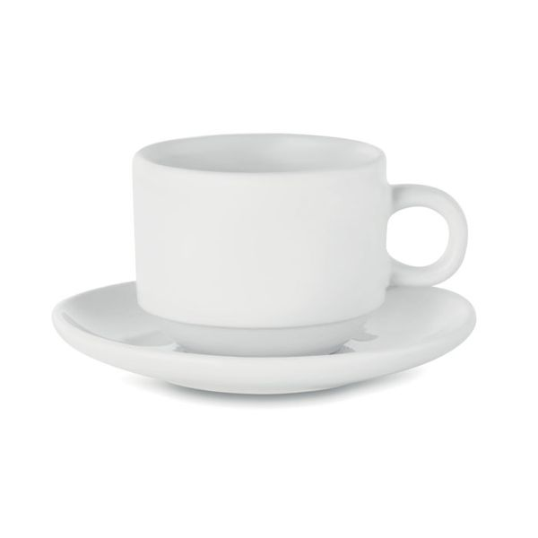 Sublimation cup and saucer, белый